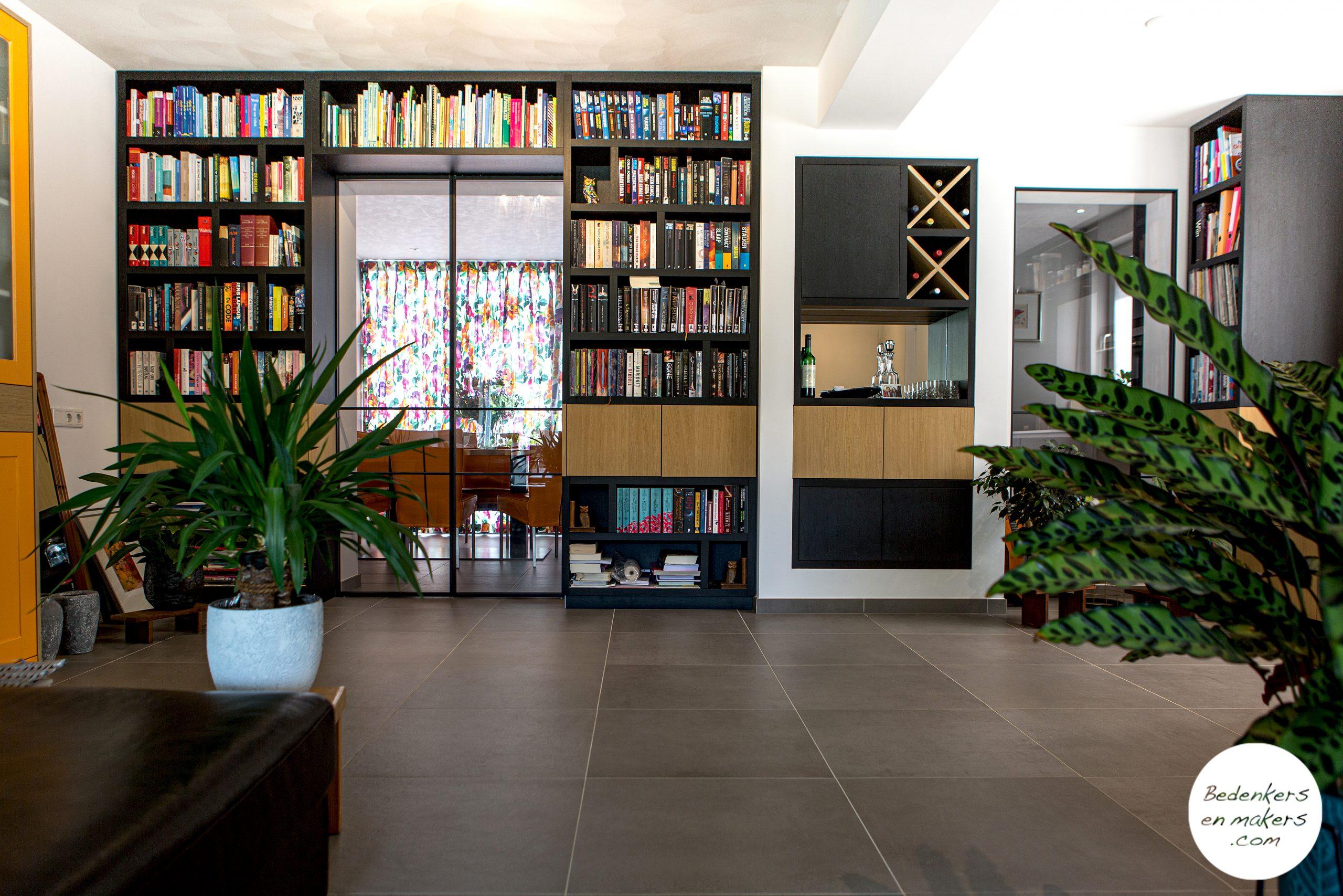 boekenkast en stalen deuren op maat S20C167301