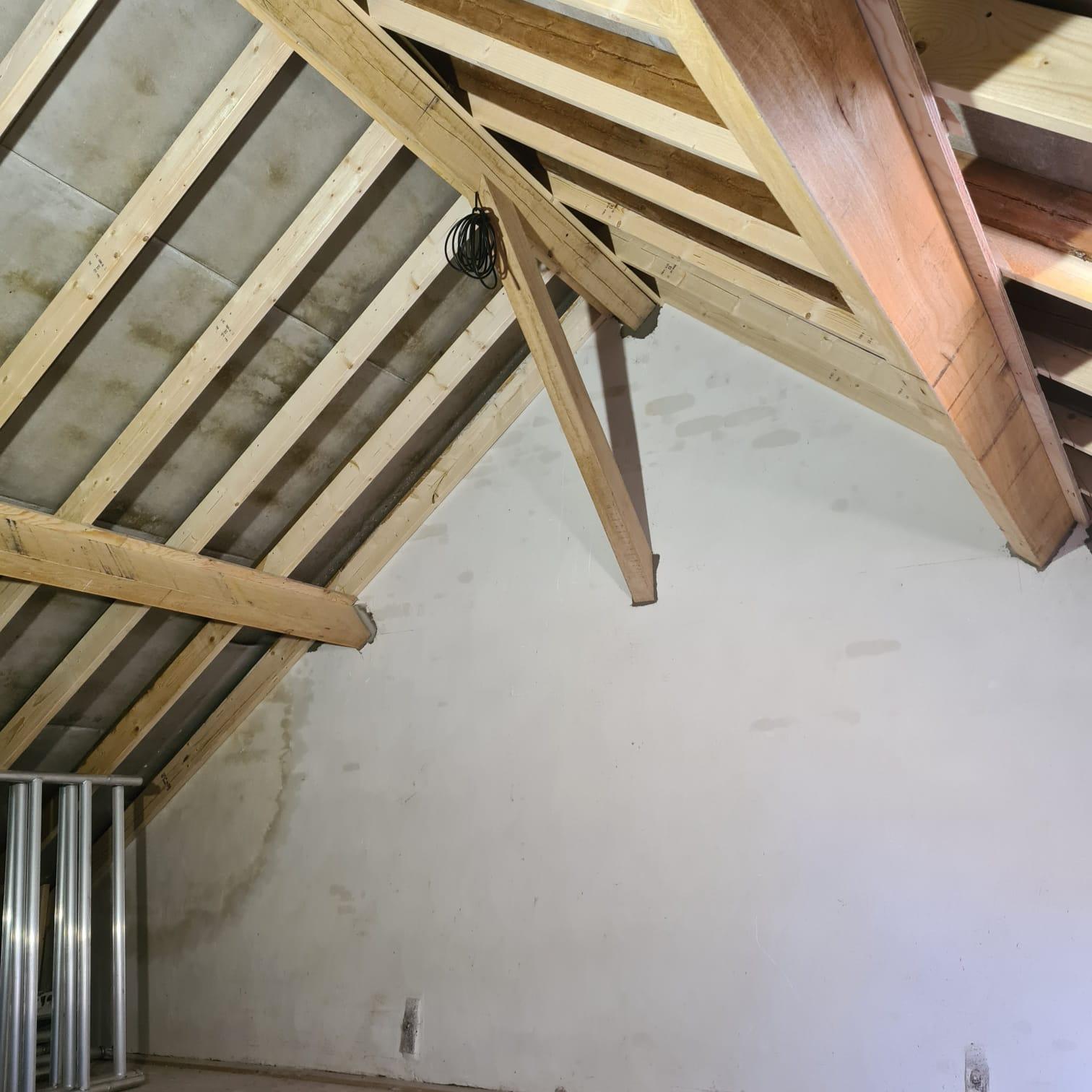 Binnenkant van het dak